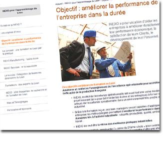 référencement sur lean management pour inexo.eu
